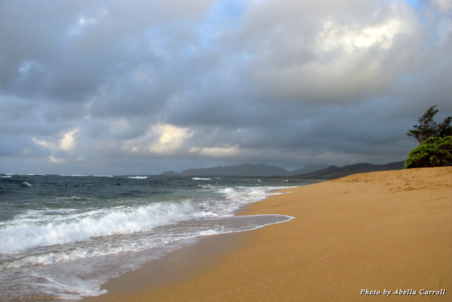 I loved being the first one on the pristine untouched white sandy beach with no footprints but my own