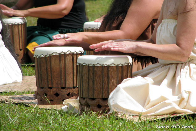Hula hands can tell their story by chanting to the beat of their own drums