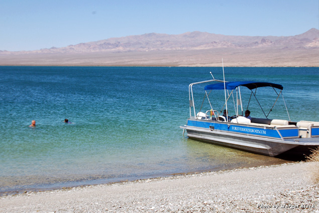 Rent a smaller boat for the day to explore Lake Mohave