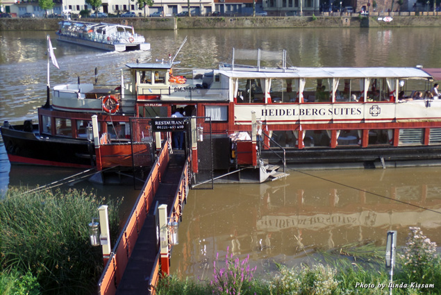 "The floating restaurant-ship ""Patria"" on the River Neckar"
