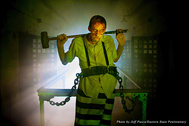 Eastern State Penitentiary inmate in Terror Behind the Walls attraction