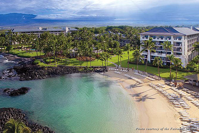 The exterior of the Fairmont Orchid