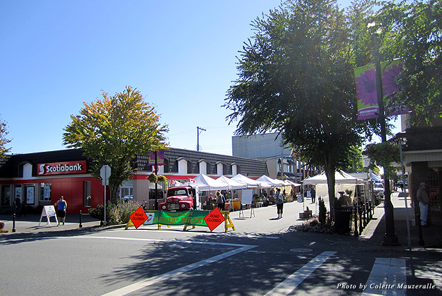 Walk to the local shops of downtown Courtenay before or after enjoying Wednesday's Comox Valley Farmers Market