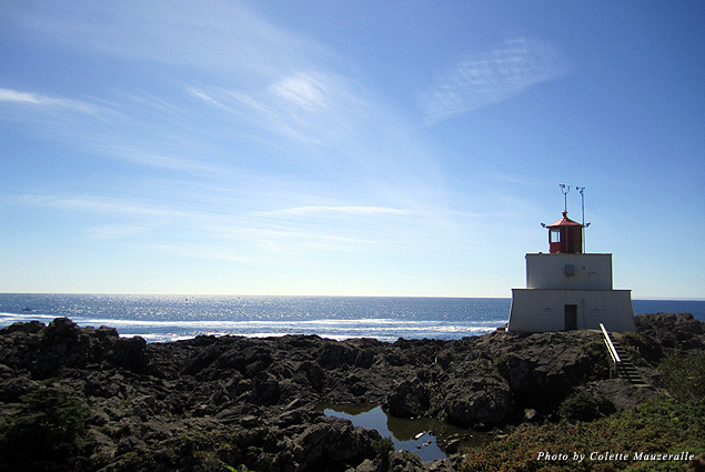 The historic Amphitrite Point Lighthouse is a highlight of Ucluelet's Wild Pacific Trail