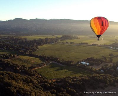 Wining, dining, and hot air ballooning are only part of the fun in action-packed Yountville in California's Napa Valley