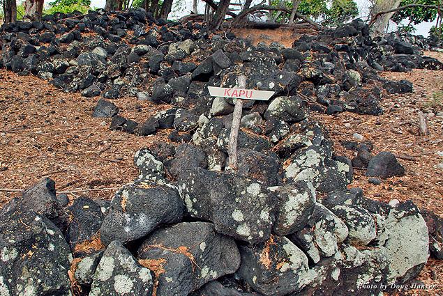 A kapu, or forbidden ancient Hawaiian cemetery