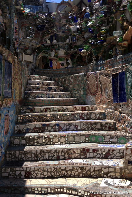 Mosaics cover every inch of space at Philadelphia's Magic Gardens