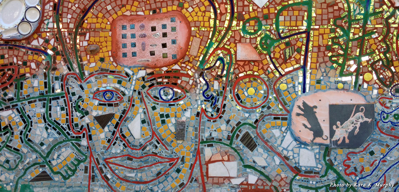 Intricate mosaic at Philadelphia's Magic Gardens