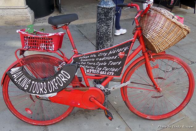 Biking is a fun way to tour Oxford
