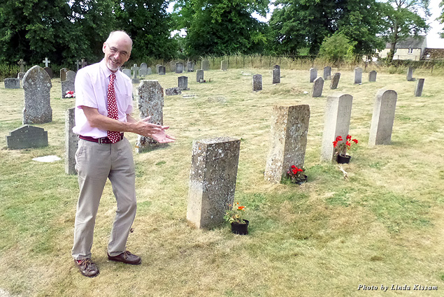 Tour guide Martin shows us the Cotswolds sites