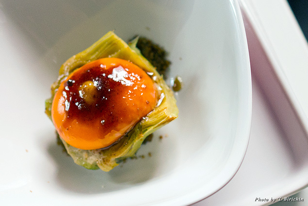 The egg is one of the ingredients beloved by chef Nicola Batavia at restaurant 'L Birichin Turin