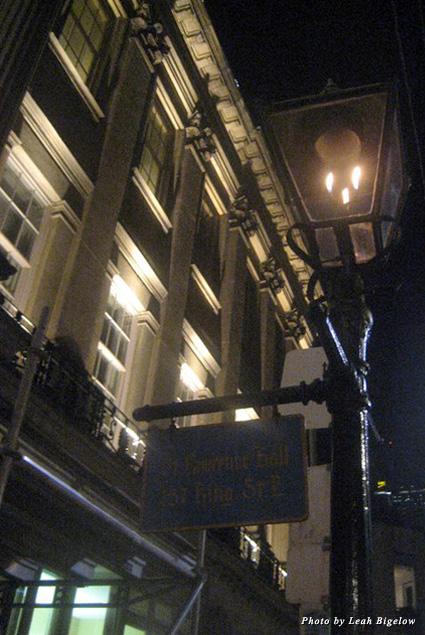 A lantern lights a Toronto street