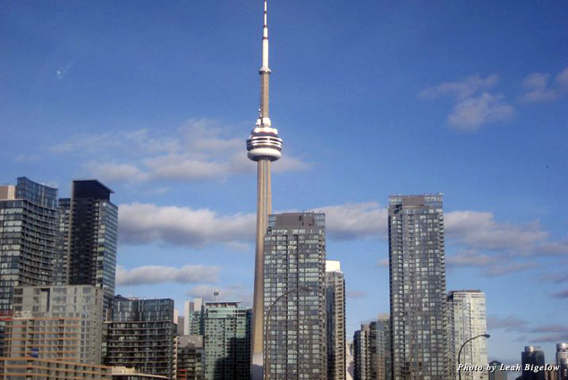 The CN Tower stands tall in the Toronto skyline