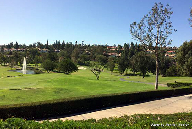 A view of the 18th green at Rancho Bernardo Golf Course, which is truly spectacular