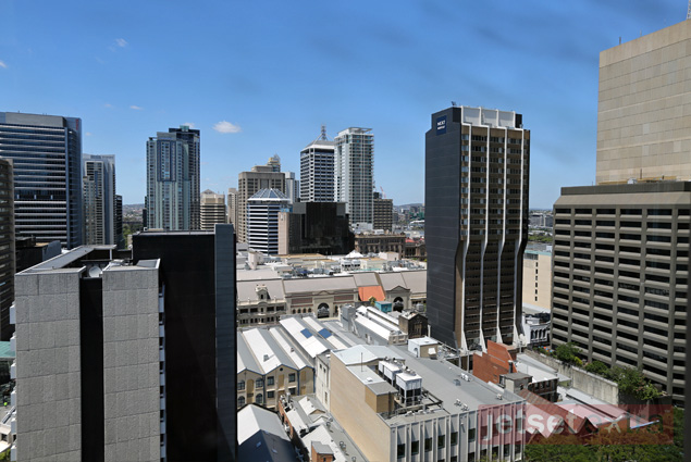 A view of Brisbane from the top of the clock tower