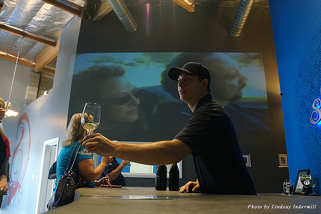 "In honor of the 10-year anniversary of ""Sideways,"" Strey Cellars' winemaker Scott Ballew played the film for guests"