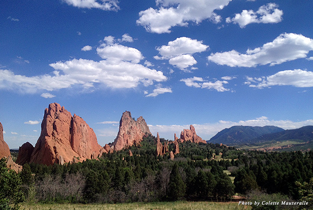 Panoramic views of Garden of the Gods can be seen from the Visitor Center