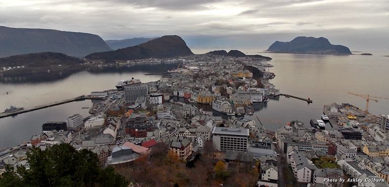 Looking out over Alesund