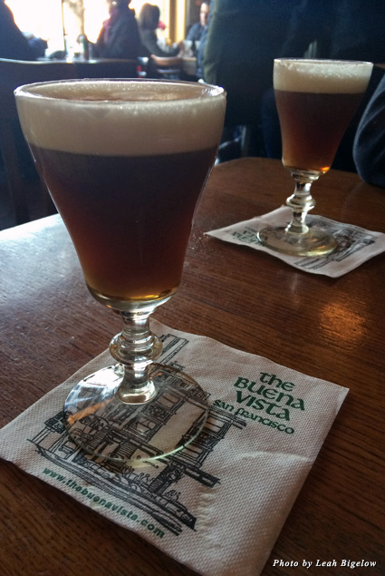 Irish coffee served in a special chalice at Buena Vista Café