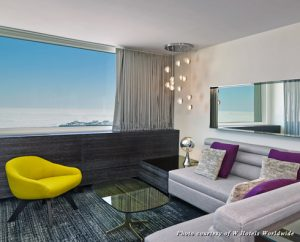 A guestroom at the W Lakeshore-Chicago