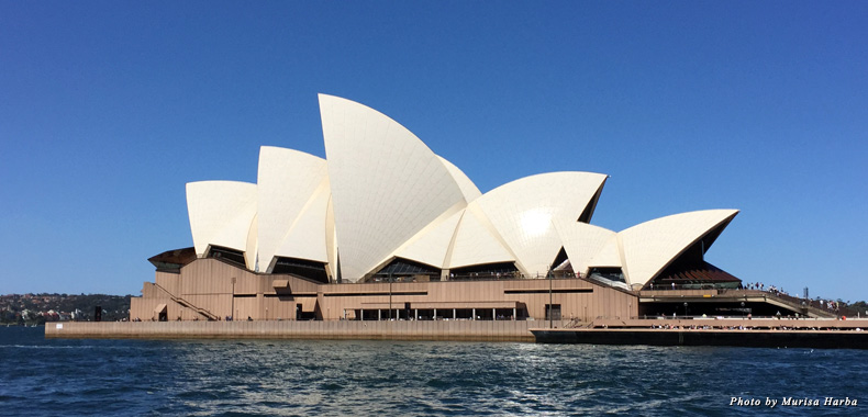 View of the Opera House from the Manly Ferry