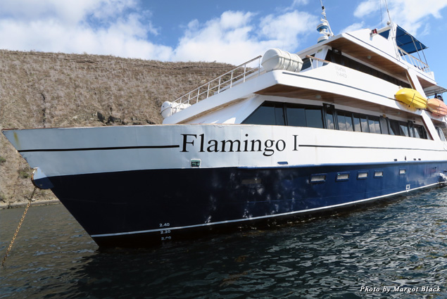 The Flamingo I, our home for the next week