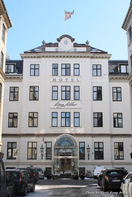 Front entrance of Copenhagen's Hotel Kong Arthur