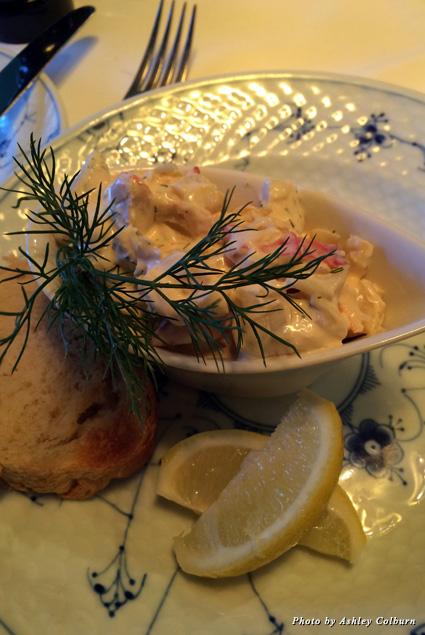 Lobster salad at Sankt Annæ Restaurant