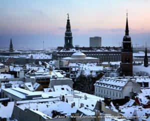 Rooftops of Copenhagen in the winter