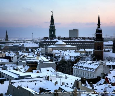 Rooftops of Copenhagen in the winter
