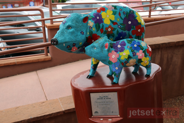 Colorful artwork on public display in Sedona