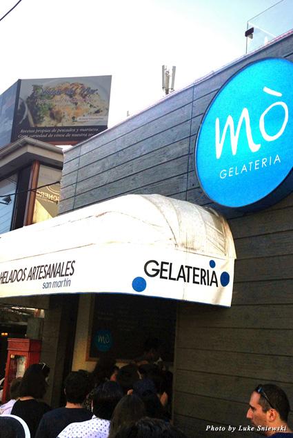 Exterior of Gelateria Mo