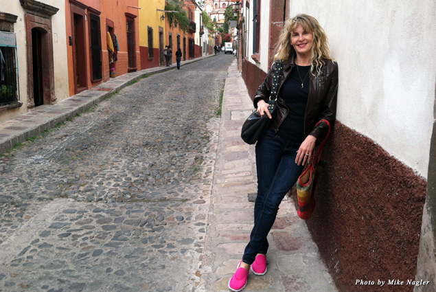 The author stands on Calle Sollano