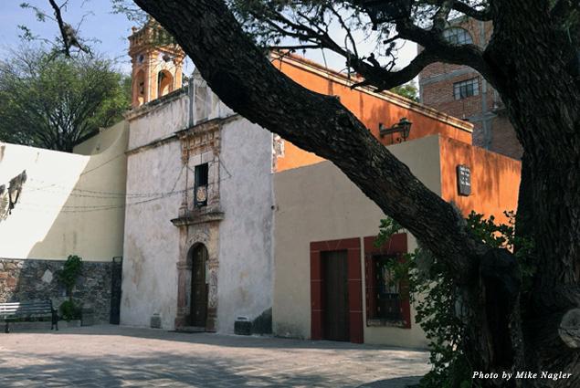 The neighborhood church above Parque Juarez
