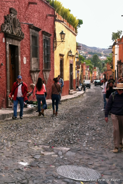 Walking the cobblestones