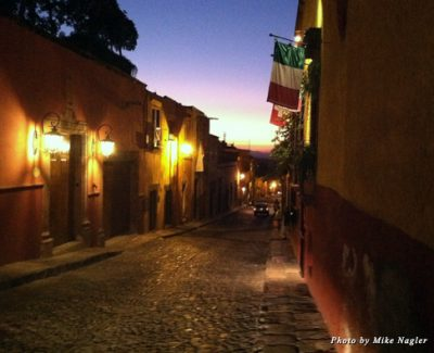 Sunset on Aldama Street in San Miguel
