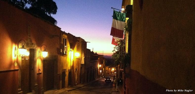 Sunset on Aldama Street in San Miguel