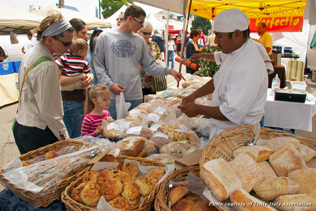 A bakery at the Little Italy Mercato, a weekly event beloved by tourists and locals