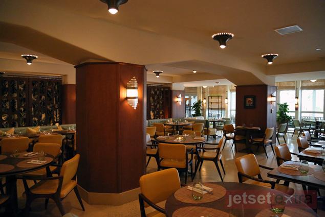 Interior view of Seagrape restaurant at Thompson Miami Beach