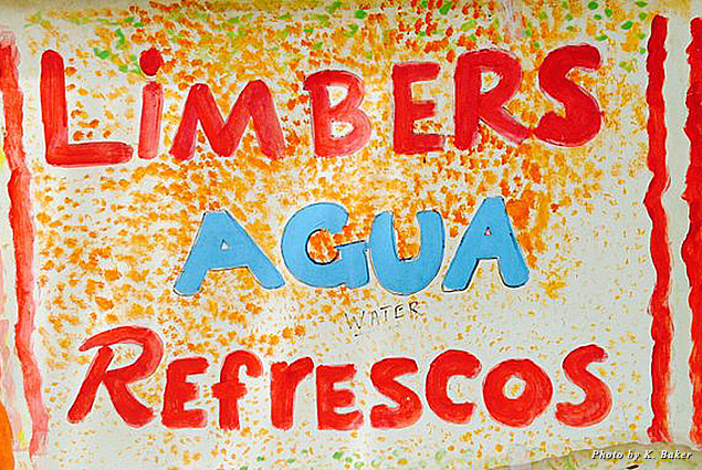 Sign for Limbers Aquas Frescas, Old San Juan