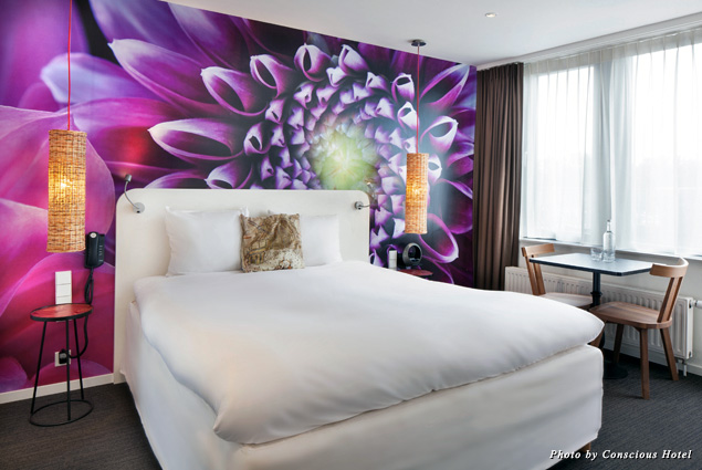 Guest room at Conscious Hotel