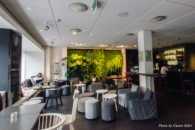 Lounge area at Conscious Hotel