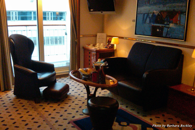 My well-appointed Soroya Suite featured a spacious living area and a large outside veranda