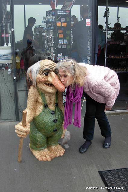 Befriending a troll in the Trollstigen Pass