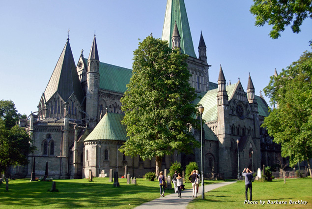 Beautiful Nidaros Cathedral in Trondheim is the largest medieval structure in Scandinavia