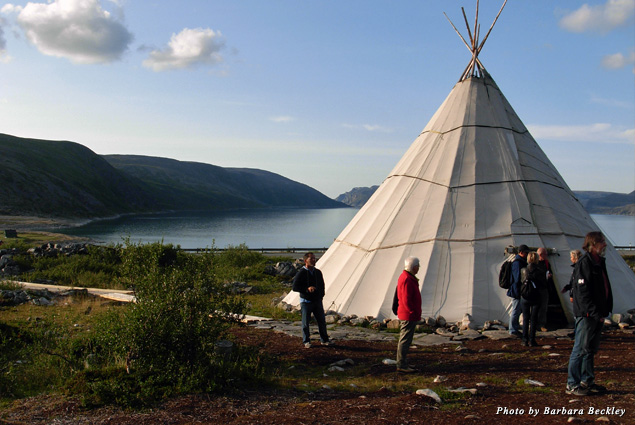 A traditional camp lavvo, used by the Sami to follow their reindeer