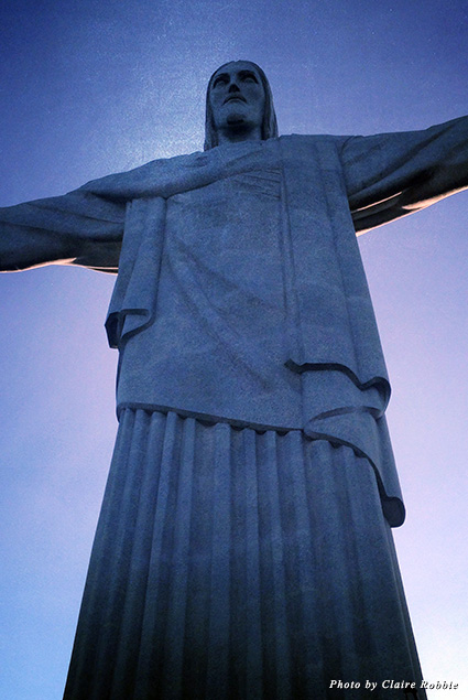 Looking up at the Christ the Redeemer statue