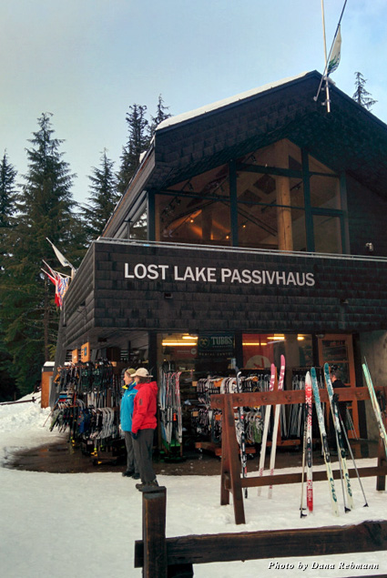 Cross Country Connection has supplies for cross-country skiing at the Lost Lake PassivHaus