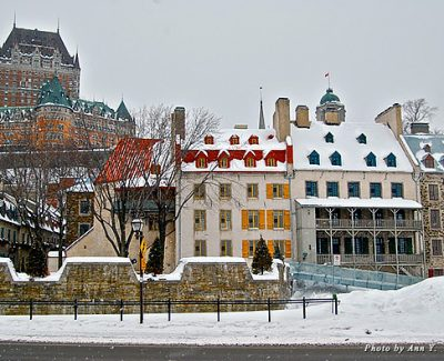 Chateau Frontenac in quaint Quebec