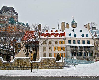 Chateau Frontenac in quaint Quebec